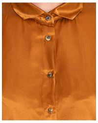Diega - Metallic Chalala Shirt In Bronze - Lyst