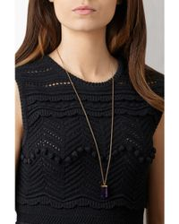 Theodora Warre - Metallic Amethyst Pendant Necklace - Lyst
