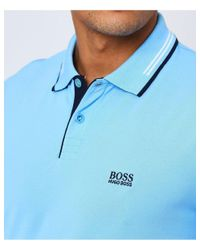 BOSS - Blue Slim Fit Paul Polo Shirt for Men - Lyst