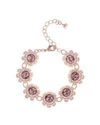 Ted Baker - Metallic Women's Seah Crystal Daisy Lace Bracelet - Lyst