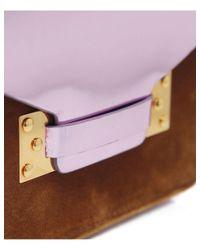 Sophie Hulme - Brown Small Metallic Velvet Crossbody Bag - Lyst