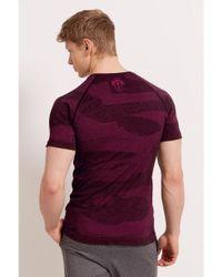 Hpe - Purple Cross X Seamless Tshirt for Men - Lyst
