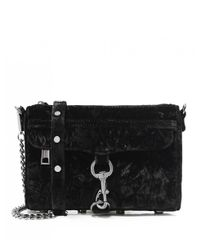 Rebecca Minkoff - Black Velvet Mini Mac Crossbody Bag - Lyst
