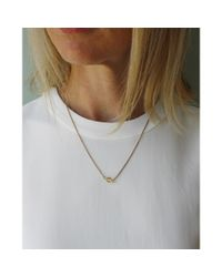 Spectrum   Metallic Petite Faceted Pendant Necklace   Lyst