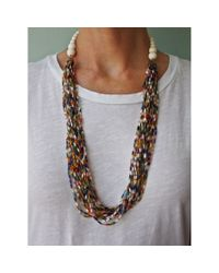 Spectrum | Multicolor Confetti Bead Necklace | Lyst