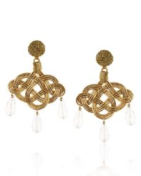 Anna E Alex | Metallic Gold Passementerie Triple Drop Earrings | Lyst