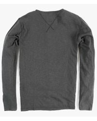 Nudie Jeans - Gray Ls Henley for Men - Lyst