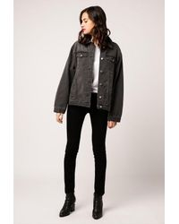 Azalea - Faded Black Denim Jacket - Lyst