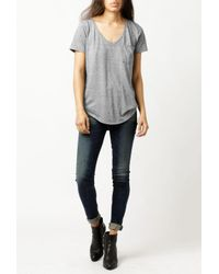 Sol Angeles - Gray Sol Essential Tourque Tee - Lyst