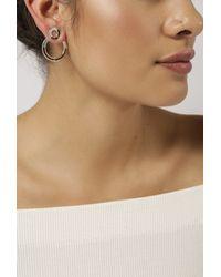 Pamela Love - Metallic Sterling Silver Quarter Earrings - Lyst