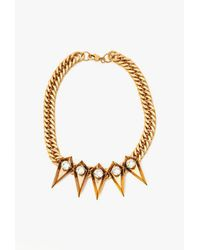 Nicole Romano - Metallic Five Spike W/ Crystal Necklace - Lyst