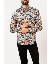 Naked & Famous - Blue Japan Flower Festival Shirt for Men - Lyst