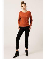 Monrow - Orange Cropped Thermal W/ Pocket - Lyst