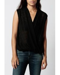 Azalea - Black Teigan Jaquard Top - Lyst