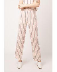 Azalea - White Striped Flare Pants - Lyst