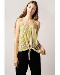 Azalea - Multicolor Aubree Stripe Knot Top - Lyst