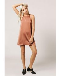 Azalea - Purple Cami Back Detail Dress - Lyst