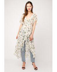 Azalea - Multicolor Wrap Kimono Duster Dress - Lyst
