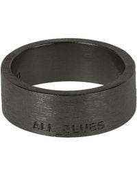 All_blues - Black Band Ring for Men - Lyst