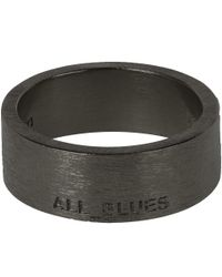 All_blues | Black Band Ring for Men | Lyst