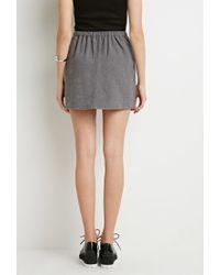 Forever 21 | Gray Pleated Mini Skirt | Lyst