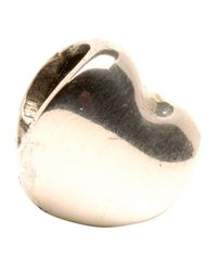 Trollbeads | Metallic Heart Silver Bead | Lyst