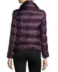 Moncler   Purple Bourdon Snap-Front Short Puffer Coat   Lyst