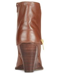 Corso Como | Brown Scarsdale Wedge Booties | Lyst
