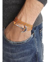 Miansai | Orange Rope Wrap Anchor Bracelet for Men | Lyst
