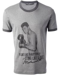 Dolce & Gabbana - Gray Muhammad Ali Printed T-shirt for Men - Lyst