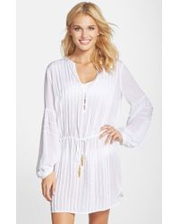 ViX | White 'paris' Cover-up Tunic | Lyst