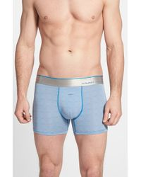 Tommy John | Blue 'second Skin' Trunks for Men | Lyst