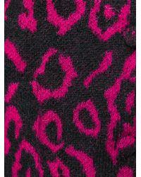 Saint Laurent - Black Leopard Print Cardigan - Lyst