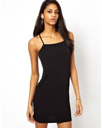 ASOS - Black Chain Back Cami Dress - Lyst