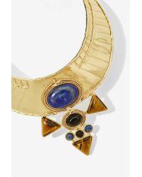 Nasty Gal - Metallic From St. Xavier Jacinta Collar Necklace - Lyst