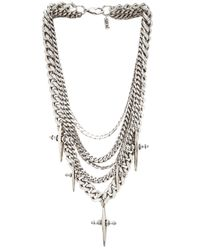 Luv Aj - Metallic The Multi Chain Cross Necklace - Lyst
