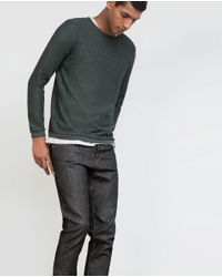 Zara | Gray Structured Sweater for Men | Lyst