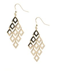 Lord & Taylor | Metallic 14 Kt Gold Over Sterling Silver Chandelier Earrings | Lyst