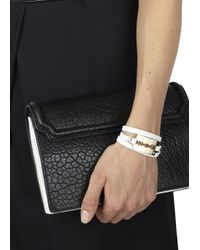 McQ - White Razor Leather Wrap Bracelet - Lyst