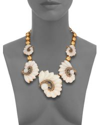 Oscar de la Renta | Metallic Swirl Graduated Necklace | Lyst