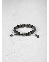 John Varvatos - Black Brass Pyramid Bracelet for Men - Lyst