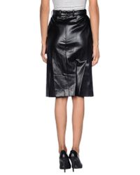 Sonia Rykiel - Black Knee Length Skirt - Lyst