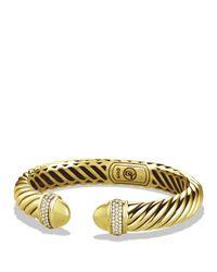David Yurman   Yellow Waverly Bracelet With Diamonds In Gold   Lyst