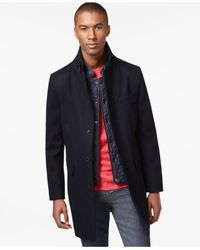 Sean John | Blue Topcoat for Men | Lyst