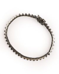 Eddie Borgo - Gray Gunmetal Pyramid Tennis Bracelet - Lyst