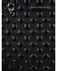 Diane von Furstenberg   Black Ready To Go Quilted-leather Tote   Lyst