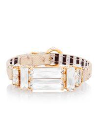 Henri Bendel | Metallic Deco Strap Bracelet | Lyst