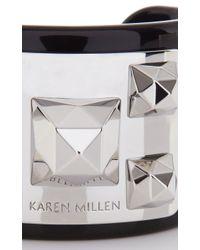 Karen Millen | Black Pyramid Stud Cuff | Lyst