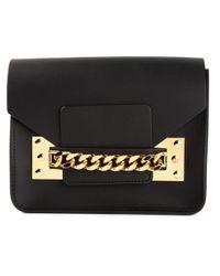 Sophie Hulme - Black Mini Envelope Leather Cross-Body Bag - Lyst
