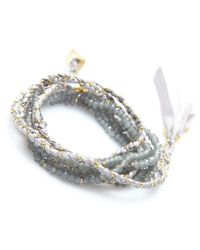 Nakamol - Multicolor Lore Wrap Bracelet-grey - Lyst